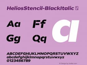 HeliosStencil-BlackItalic