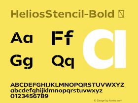 HeliosStencil-Bold