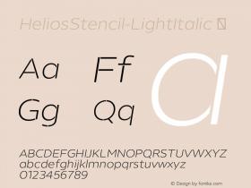 HeliosStencil-LightItalic