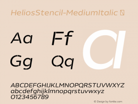 HeliosStencil-MediumItalic