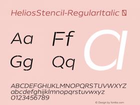 HeliosStencil-RegularItalic