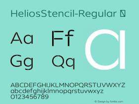 HeliosStencil-Regular