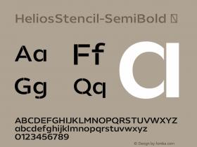 HeliosStencil-SemiBold