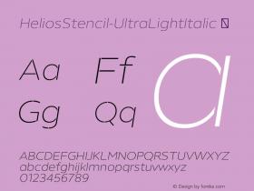 HeliosStencil-UltraLightItalic