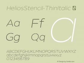 HeliosStencil-ThinItalic