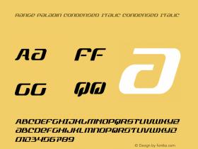 Range Paladin Condensed Italic