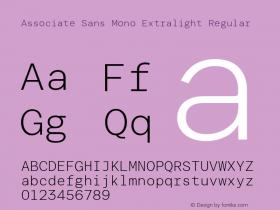 Associate Sans Mono Extralight