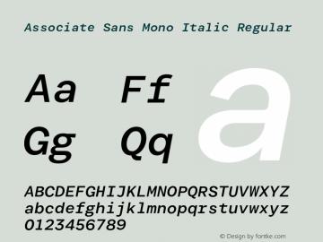 Associate Sans Mono Italic