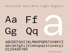 Associate Sans Mono Light