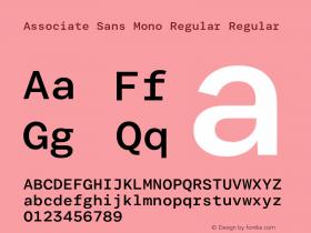 Associate Sans Mono Regular