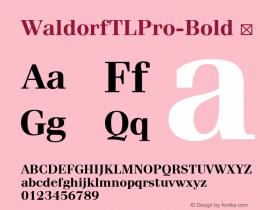 WaldorfTLPro-Bold