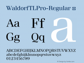 WaldorfTLPro-Regular