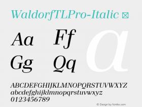 WaldorfTLPro-Italic