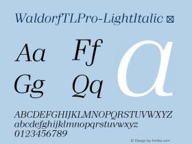 WaldorfTLPro-LightItalic