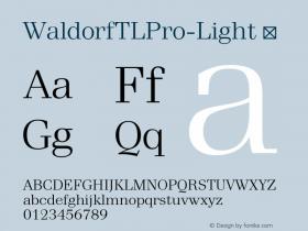 WaldorfTLPro-Light