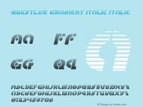 Questlok Gradient Italic