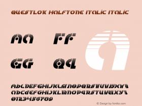 Questlok Halftone Italic