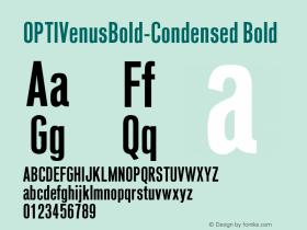 OPTIVenusBold-Condensed