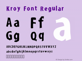 Kroy Font