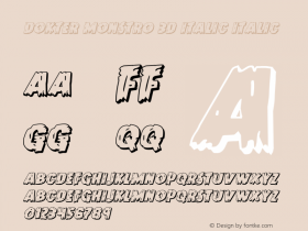 Dokter Monstro 3D Italic