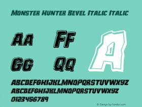 Monster Hunter Bevel Italic