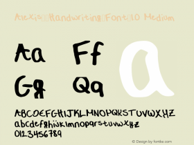 Alexis__Handwriting_Font_1.0
