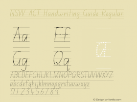 NSW ACT Handwriting Guide
