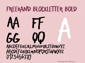 Freehand Blockletter