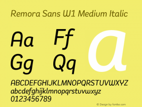 Remora Sans W1