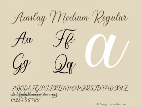 Ainslay Medium