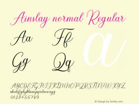 Ainslay normal