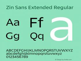 Zin Sans Extended