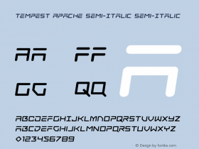 Tempest Apache Semi-Italic