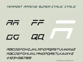 Tempest Apache Super-Italic