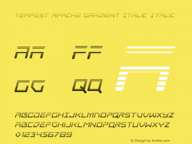 Tempest Apache Gradient Italic