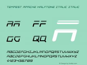 Tempest Apache Halftone Italic