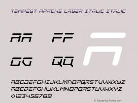 Tempest Apache Laser Italic
