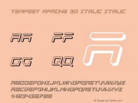 Tempest Apache 3D Italic
