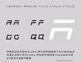 Tempest Apache Title Italic