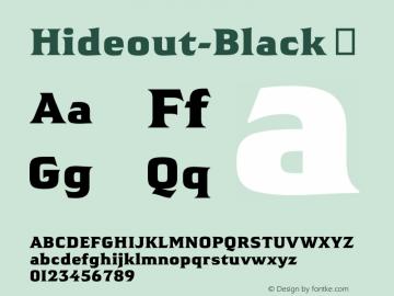 Hideout-Black
