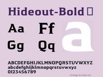 Hideout-Bold
