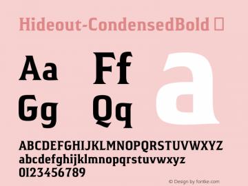 Hideout-CondensedBold