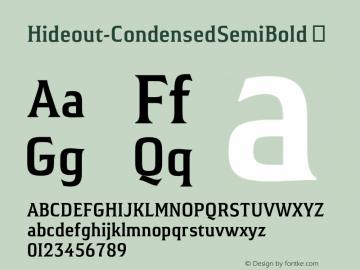 Hideout-CondensedSemiBold