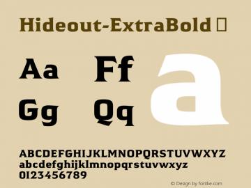 Hideout-ExtraBold
