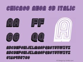 Chicago Neon 3D