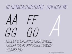 GLBenicassimSans-Oblique