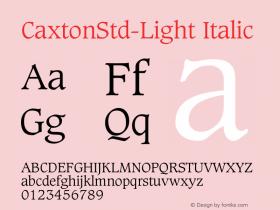 CaxtonStd-Light