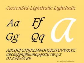 CaxtonStd-LightItalic