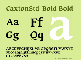 CaxtonStd-Bold