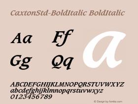 CaxtonStd-BoldItalic